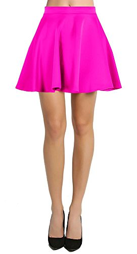 Womens Short Mini Skater Skirt Flared with elastic waist. Many colors and sizes available.
