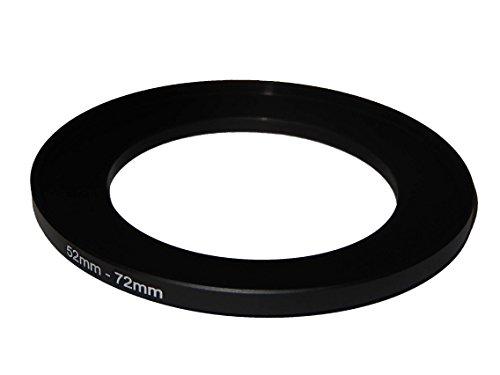 vhbw Step UP Filter-Adapter 52-72mm für Canon Casio Pentax Olympus Panasonic Sony Nikon Ricoh Sigma Tamron Samsung Fujifilm Agfa Minolta Kodak.