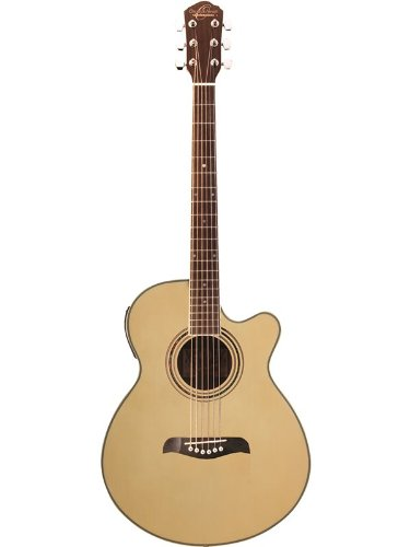 Oscar Schmidt Og10Ce Concert-Size Cutaway Acoustic-Electric Guitar - Natural