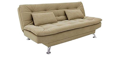 FabHomeDecor Supersoft Three Seater Sofa cum Bed (Beige)