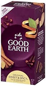 Good Earth Original Sweet Spicy Herbal Tea Blend Caffeine Free 25 Bags from GoodEarth