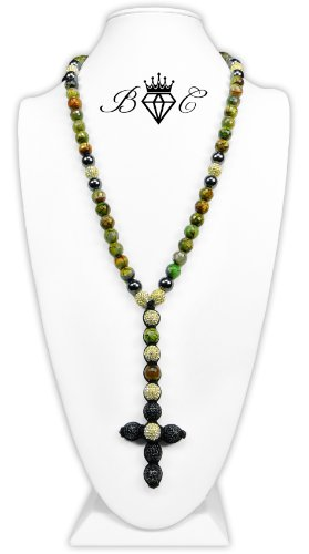 Earth Link Shamballa Necklace   Hip Hop Jewelry   Crystal Disco Ball Necklace (By BAGATI CRYSTO)