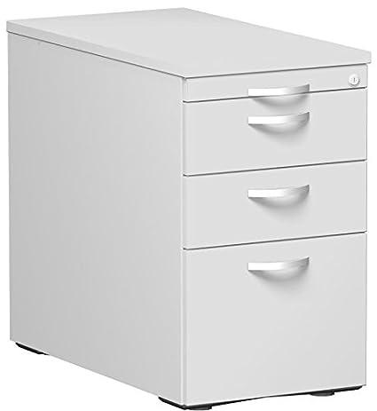 Stand Container con cartelle sospese e 2cassetti, in metallo con luce rotante Teila, chiusura centralizzata, 438x 800x 720utensili cassetto, metallo, grigio/grigio chiaro/grigio, Gera mobili