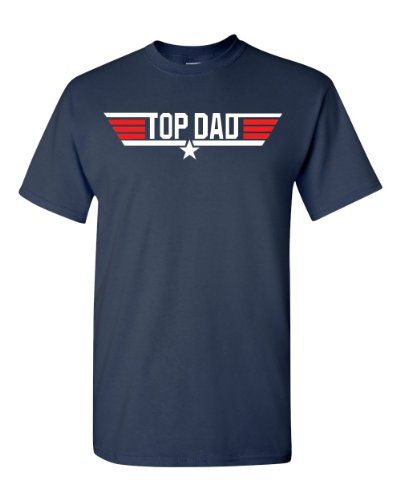 Top Dad Birthday/Christmas Gift Adult T-Shirt Tee - Navy