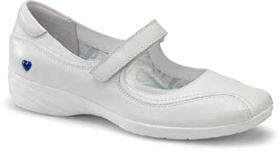 Nurse Mates Women's Willow White Leather 8.5 W US