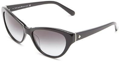 Kate Spade Della/S Della/S Cat Eye Sunglasses,Black,55 mm