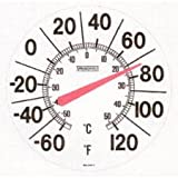 """Springfield  90007 13.00"""" Big and Bold Low Profile Patio Thermometer"""