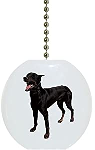 Doberman Dog Animal CERAMIC Fan Pull