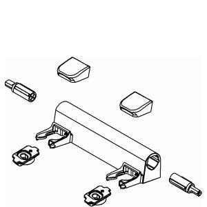 Kohler 1150464-0 Hinge Kit for Elongated Toilet Seat, White