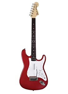 Xbox 360 Rock Band Wireless Fender Stratocaster Replica w/ Metallic Finish - Candy Apple Red - Wireless Edition