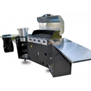 Portable outdoor kitchen and tailgate grill grills in for Mobile outdoorkuche
