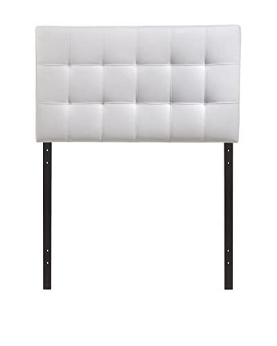 Modway Countess Twin Faux Leather Headboard, White