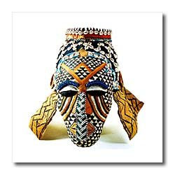 African Mask - 6x6 Iron On Heat Transfer For White Material