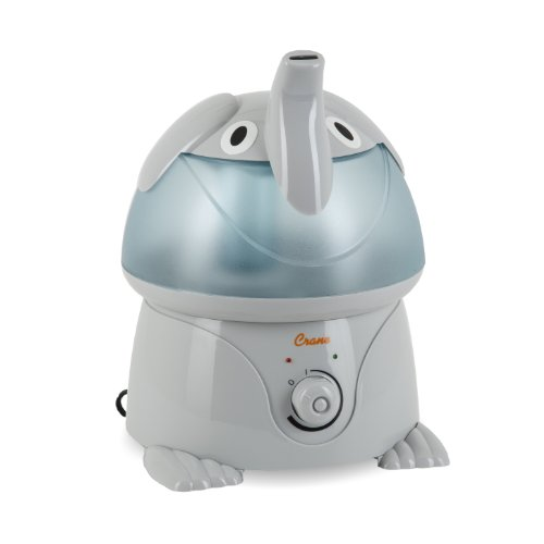 Crane Appealing Ultrasonic Cool Mist Humidifier with 2.1 Gallon Output per Day - Elephant