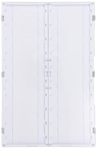 "Simport Slidefolder M750-20W Polystyrene Microscope Slide Folder, White, 11-11/16"" L X 7-9/16"" W X 7/16"" H (Case Of 10)"