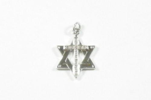 Judaica -Charm Messianic Cross INRI W/CZ's 20MM KDAG