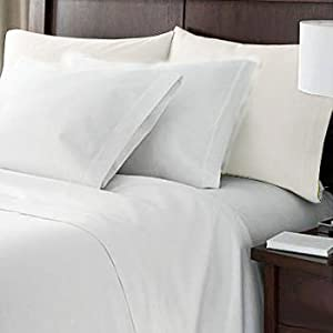 sheetsnthings Solid White 450 Thread Count California King Sheet Set 100% Egyptian Cotton 4pc Bed Sheet set (Deep Pocket)450TC at Sears.com