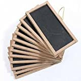 """12 Mini Chalkboards 2""""X4""""- For Wedding Place Cards Party Favors, & Crafts"""