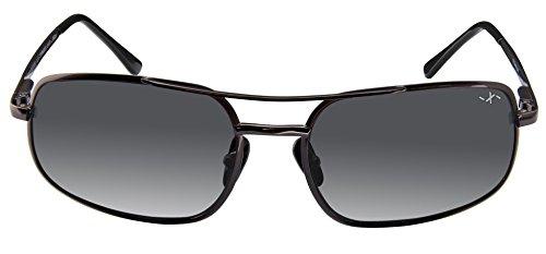 Xezo Men's UV 400 Pure Titanium Polarized Featherweight Sunglasses, Dark Gun-Meatl, 20g/0.7 oz
