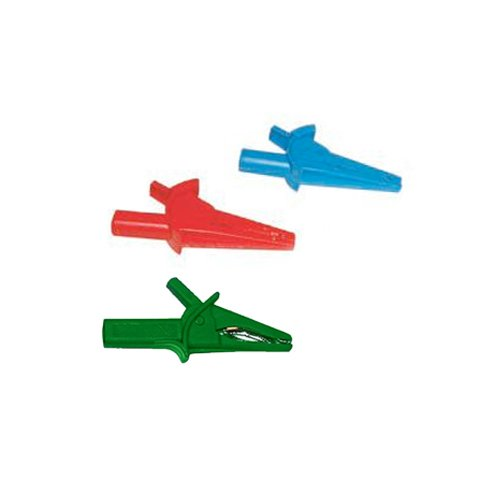 Aemc 2140.7 3-Piece Color Coded Alligator Clip Set For Ca 6116 Multi-Function Ground Testers
