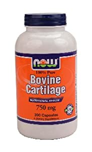 Now Foods Bovine Cartilage 750 mg - 300 Caps ( Multi-Pack)