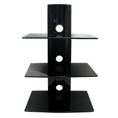 Floating Glass Shelf For Dvd Player Floating Glass Dvd Player/