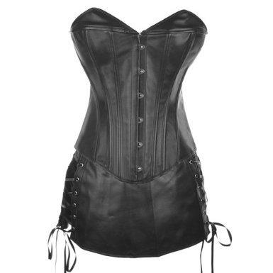 Corset Buy Foxy I Black Leather Set Overbust