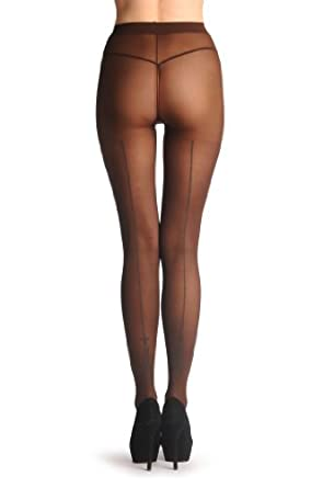 On Brown 40 Den - Pantyhose at Amazon Women's Clothing store: Tights