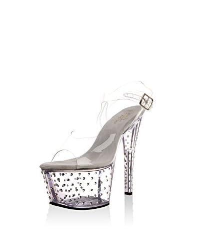 Pleaser Sandalo Con Tacco [Trasparente]