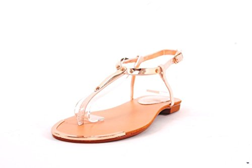 J216L Francescomilano sandalo donna stile infradito (37, Beige)