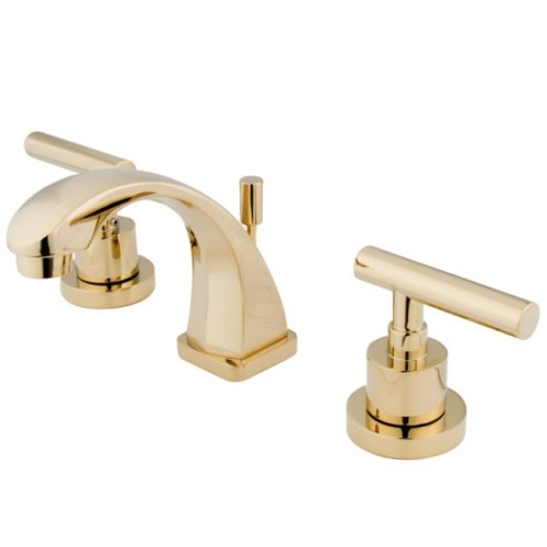 Kingston Brass KS4942CML Concord Mini Widespread Lavatory Faucet, Polished Brass