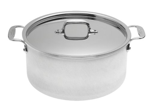 All-Clad 7508 MC2 Master Chef 2 Stainless Steel Tri-Ply Bonded Stockpot with Lid Cookware, 8-Quart, Silver