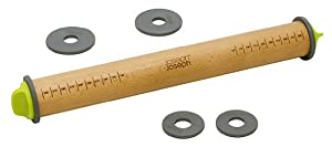 Joseph Joseph Adjustable Rolling Pin with 6 Adjustment Discs