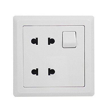 Zclwall Outlet With Double 2-Pole Switch Socket Electrical Outlets Switches White