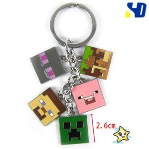 A-factory Minecraft 5 Heads Keychain by A-factory