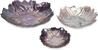 Midnight Garden Glass Bowls - Set of 3 a stroke of midnight