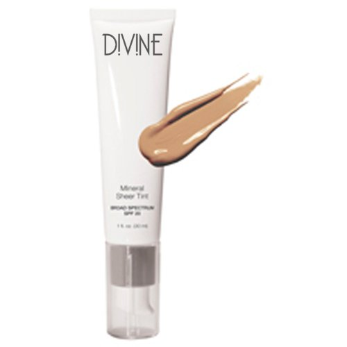 Divine Skin & Cosmetics Mineral Sheer Tint Foundation Spf20 1Oz Natural Glow