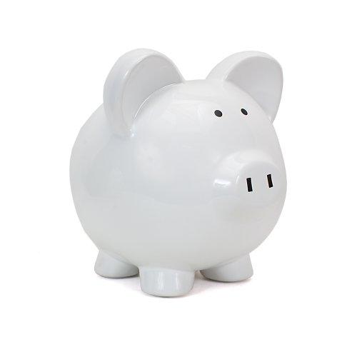 Child to Cherish Huge Boss Hog Pig Bank, White - 1