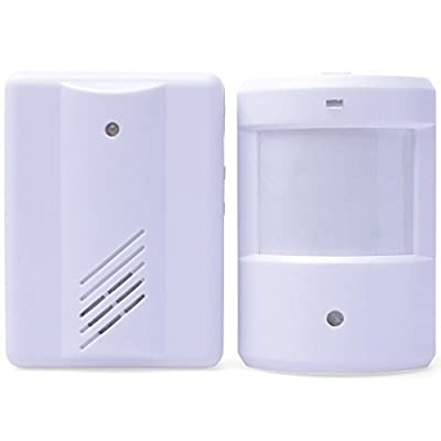 Novelt'y Entry Door Bell Alarm Chime Doorbell Wireless Doorbell Chime IR Infrared Monitor Sensor Detector Split Alarm Door Alarm System Door Bells & Chimes