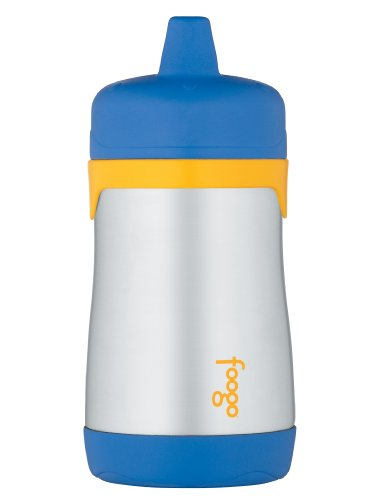 Thermos Foogo Phases Stainless Steel Sippy Cup, Blue/Yellow, 10 Ounce front-1066303