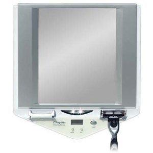 Zadro Z'Fogless Lighted Shower Mirror, White Finish (Fogless Shower Mirror With Clock compare prices)