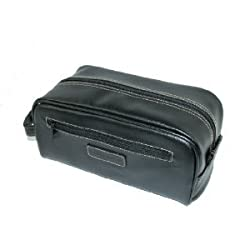Mens Perry Ellis Travel Kit Overnight Shaving Toiletry Case