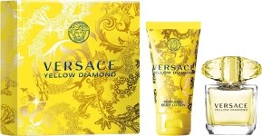 Yellow Diamond by Versace Gift Set Spray Edt Sray 3 oz + Body Lotion 3.4 oz