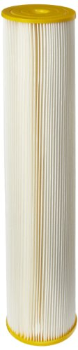 "Pentek ECP50-20BB Pleated Cellulose Polyester Filter Cartridge, 20"" x 4-1/2"", 50 Microns"