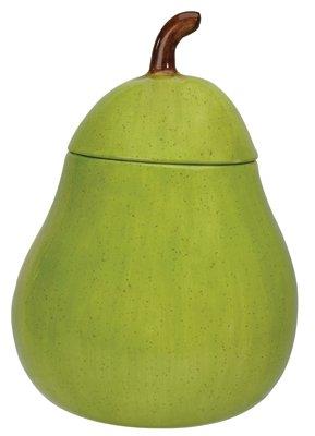 Green Pear Ceramic Cookie Jar