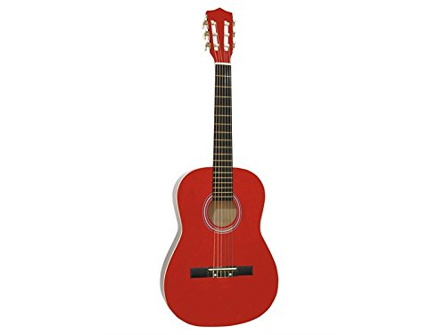 DIMAVERY AC-303 Klassik-Gitarre 3/4, rot