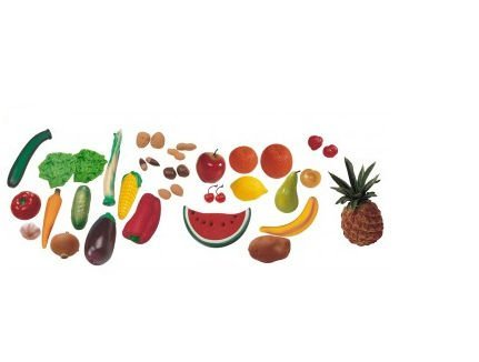Miniland Fruit, Vegetables And Nuts Assortment, 36-Pieces front-783364