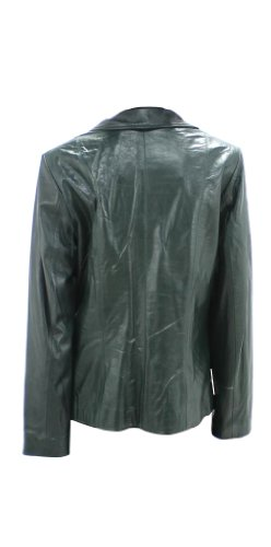 New Forest Green Butter-Soft Lamb Leather Jacket - S