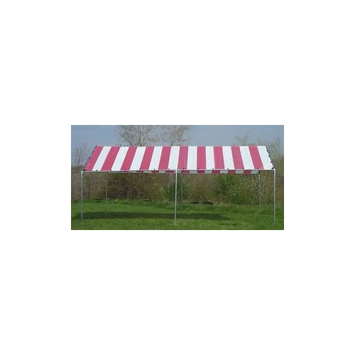 10 Ft. X 20 Ft. Standard Frame Canopy Red/white Stripe | Patio And ...