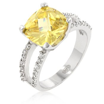 Pop Princess Engagement Ring in Canary